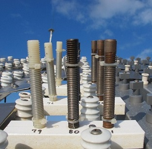 Bolts and washers undergoing testing